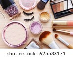 cosmetic with makeup products... | Shutterstock . vector #625538171