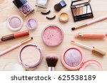 cosmetic products with makeup... | Shutterstock . vector #625538189