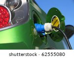 electric car refuel with power | Shutterstock . vector #62555080