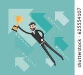 upwards. businessman flying...   Shutterstock .eps vector #625554107