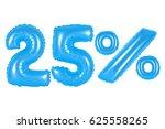 twenty five 25 percent from... | Shutterstock . vector #625558265