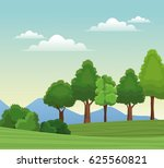 tree forest natural sky meadow... | Shutterstock .eps vector #625560821