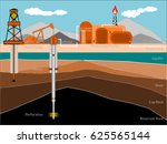 oil and gas production... | Shutterstock .eps vector #625565144