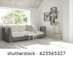 white room with sofa and green... | Shutterstock . vector #625565327
