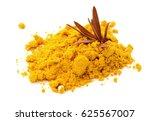powder turmeric and turmeric... | Shutterstock . vector #625567007