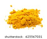turmeric powder isolated on... | Shutterstock . vector #625567031