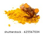 turmeric roots  turmeric powder ... | Shutterstock . vector #625567034