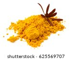 indian spices of turmeric... | Shutterstock . vector #625569707