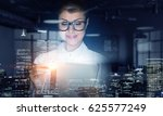scientist woman doing research. ... | Shutterstock . vector #625577249