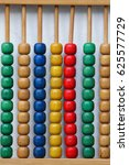 Small photo of Rainbow abacus , Abacus in the kindergarten,Montessori material