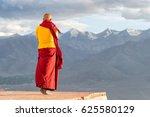 Indian Tibetan Monk Lama In Re...