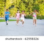 kids find joy in competition | Shutterstock . vector #62558326