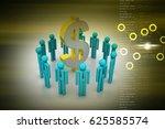 3d illustration of people... | Shutterstock . vector #625585574