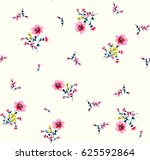Stock vector cute pattern in small flower 625592864