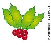 holly berry vector and isolated.... | Shutterstock .eps vector #62559775