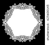 lace round paper doily  lacy... | Shutterstock .eps vector #625600145