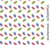 seamless pattern spring birds... | Shutterstock . vector #625604921