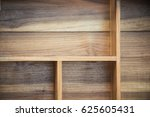 Stock photo wood cabinet on the wall 625605431