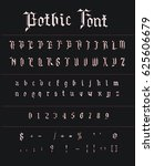 white gothic font with red... | Shutterstock .eps vector #625606679