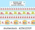 vector seamless border patterns ... | Shutterstock .eps vector #625612319
