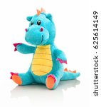 Dragon plushie doll isolated on ...