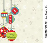 hanging christmas decorations... | Shutterstock .eps vector #62562211