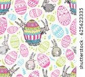 handdrawn  happy easter...   Shutterstock . vector #625623335
