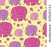 Funny Elephants. Zoo. Vector...