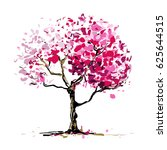 blossom tree. free hand drawing....   Shutterstock .eps vector #625644515