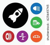 set of 6 vehicle filled icons...   Shutterstock .eps vector #625645745