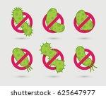 antibacterial sign with green...   Shutterstock .eps vector #625647977