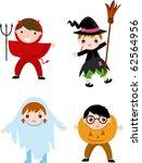 halloween children | Shutterstock .eps vector #62564956