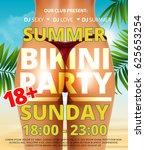 summer beach bikini or pool... | Shutterstock .eps vector #625653254