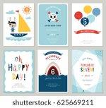 birthday boy invitation cards... | Shutterstock .eps vector #625669211