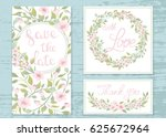 vector wedding invitations set... | Shutterstock .eps vector #625672964