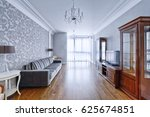 living room interior in modern... | Shutterstock . vector #625674851