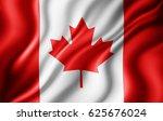 canada flag of silk 3d... | Shutterstock . vector #625676024