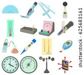 measure tools icons set.... | Shutterstock .eps vector #625683161