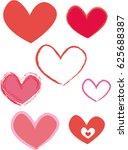 hearts | Shutterstock .eps vector #625688387