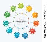 presentation circle chart... | Shutterstock .eps vector #625691321