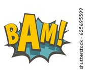 bam  comic book explosion icon... | Shutterstock .eps vector #625695599
