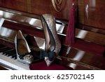 Bride's High Heel Silver Shoes...