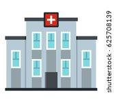medical center building icon.... | Shutterstock .eps vector #625708139