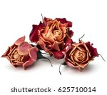 Stock photo dried rose flower head isolated on white background cutout 625710014