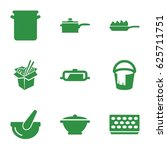 pot icons set. set of 9 pot... | Shutterstock .eps vector #625711751