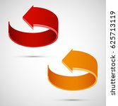 vector round arrow banners set. ... | Shutterstock .eps vector #625713119