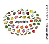 vector vegetables and word.... | Shutterstock .eps vector #625716215