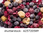 frozen berries | Shutterstock . vector #625720589