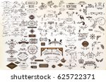 Stock vector calligraphic vintage vector design elements and page decorations huge set 625722371