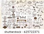 calligraphic vintage vector... | Shutterstock .eps vector #625722371